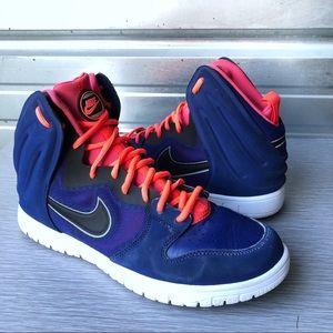 Nike | Dunk Free High Top Blue Pink Basketball 11